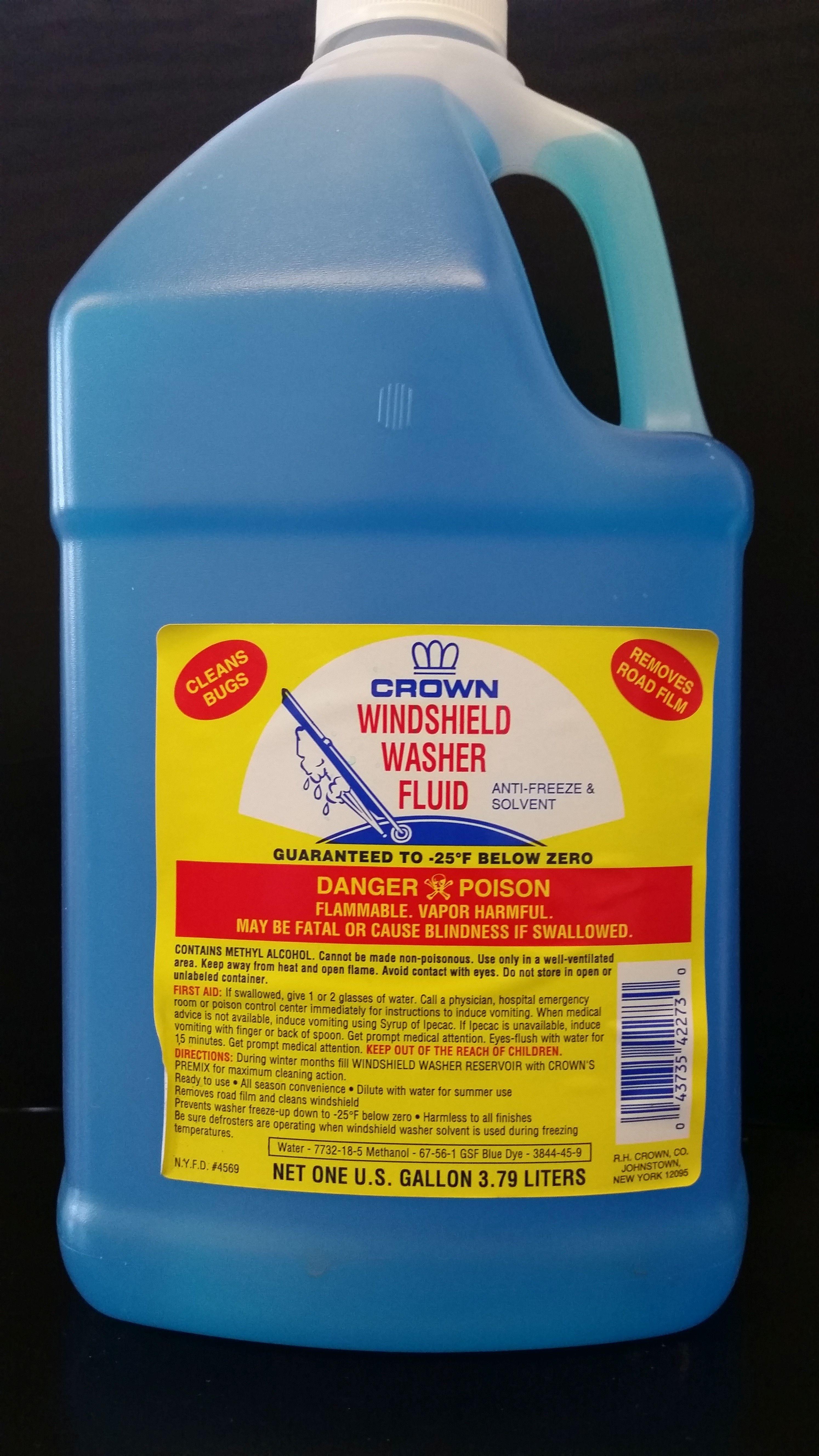Windshield washer fluid rh crown